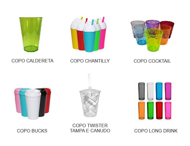 08 - COPOS DIVERSOS - COPOS PLÁSTICOS - COPOS EM METAL - COPOS COM CANUDO