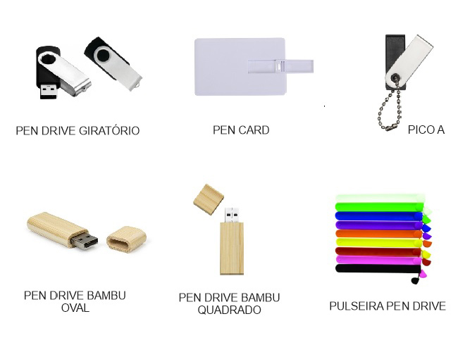 10 - PEN DRIVES - MINI PEN DRIVES - PEN DRIVES GIRATÓRIOS - CARREGADOR DE CELULAR