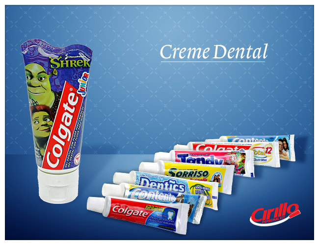 creme dental  miniatura de creme dental