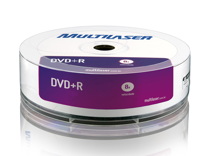 21 - DVD+R DUAL LAYER MULTILASER COM LOGO