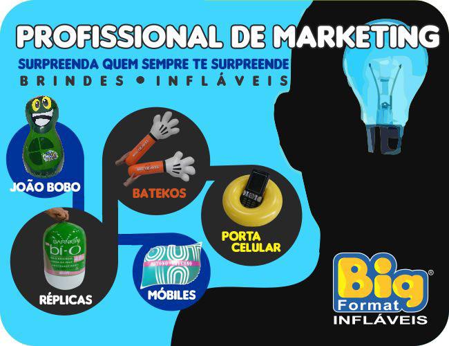 INFLÁVEIS PARA O DIA DO PROFISSIONAL DE MARKETING - BIG FORMAT