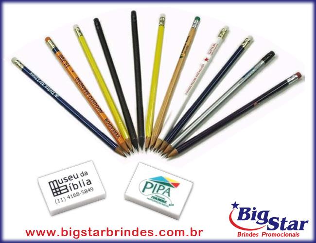 lápis e borrachas