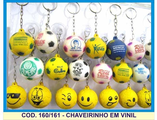 07- CHAVEIRINHOS DE BOLINHA EM VINIL