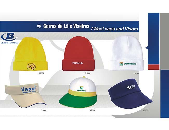 11 - VISEIRA e GORROS DE LÃ