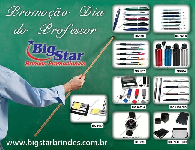 BRINDES PARA PROFESSORES - BIG STAR BRINDES