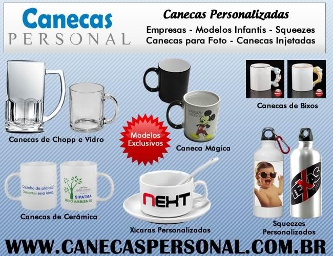 14 - CANECAS PERSONALIZADAS - XÍCARAS e SQUEEZE