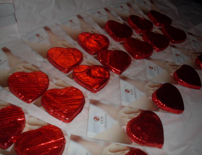 chocolates com cartão