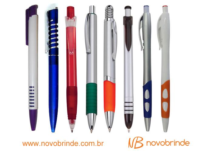 canetas plásticas