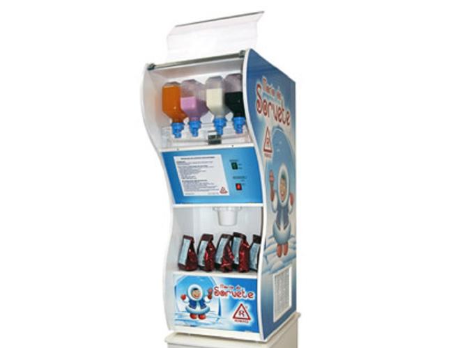 máquina sorvete soft americano casquinha