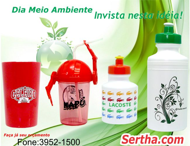 BRINDES PARA O MEIO AMBIENTE  - SERTHA BRINDES