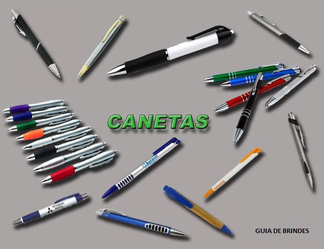 09 - CANETAS PLÁSTICAS - CANETAS METÁLICAS - CANETAS MARCA TEXTO - CANETAS RECICLADAS