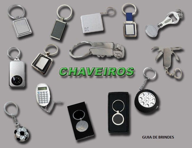 08 - CHAVEIROS LANTERNAS - CHAVEIROS TRENA - CHAVEIROS EM METAL - CHAVEIROS ABRIDOR DE GARRAFAS